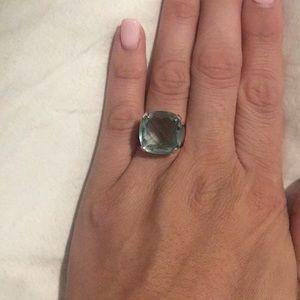 Swarovski aquamarine statement ring